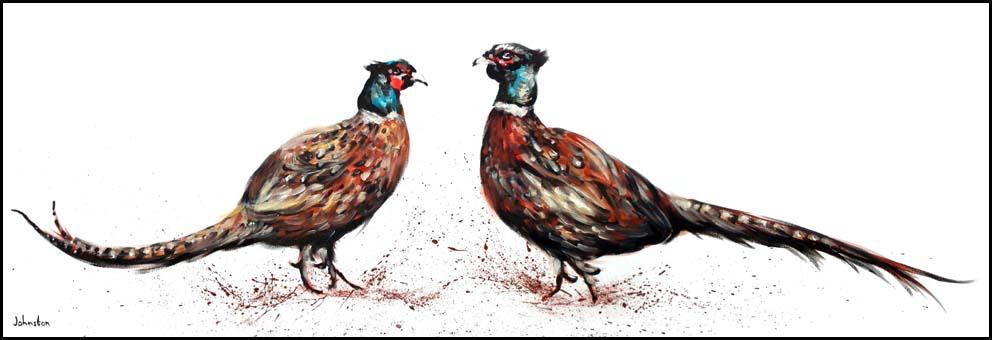 Panoramic Pheasants